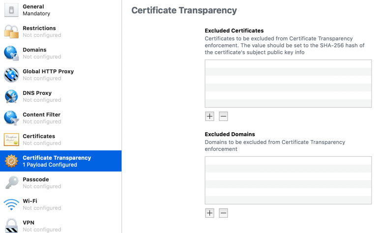 Apple Certificate Transparency requirements - Apple iOS