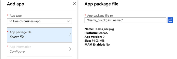 Deploying macOS applications via Intune - Microsoft EM+S and
